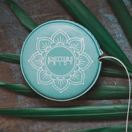 KNITTERS PRIDE Mindful Collection Teal Retractable Tape Measure