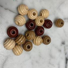 Wooden Honey Dipper Beads 3mm Hole