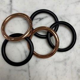 "Metal Macrame Rings 2.25"""