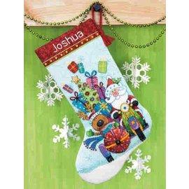 Dimensions Santa's Sidecar Stocking Cross Stitch Kit 70-08867