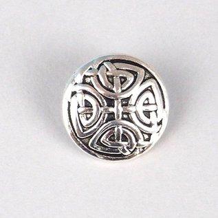 5227251 Button Antique silver 17mm