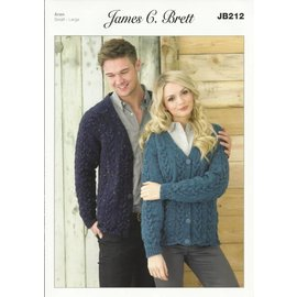 James C Brett Pattern Leaflet JB212