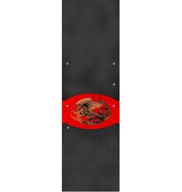 Powell Peralta Powell Peralta- Oval Dragon Red- Graphic Grip- 9 x 33 in Sheet- Grip Tape