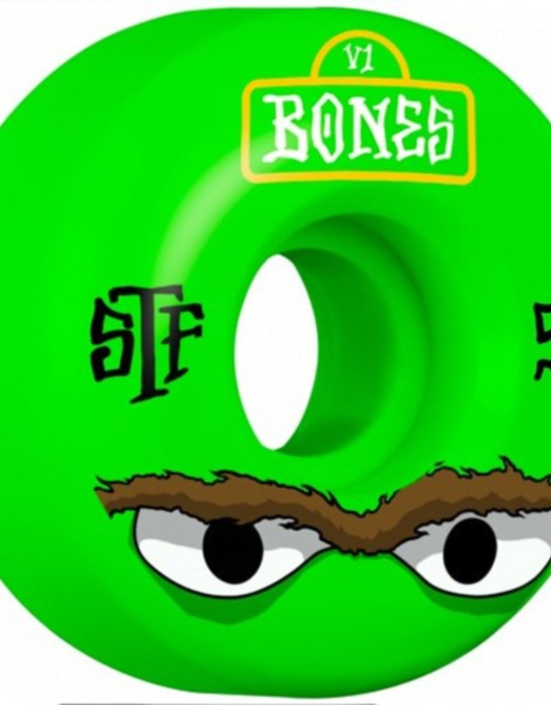 Bones Bones- Mean Greens- 52mm- V1 Shape- Street Tech Formula- Wheels