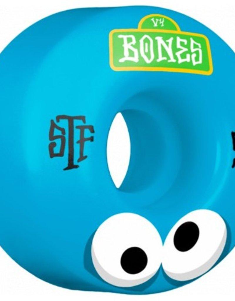 Bones Bones- Googly Blues- 55mm- V4 Shape- Street Tech Formula- Wheels