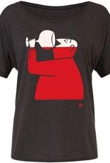 Ames Bros Ames Bros- Wino- Flowy Simple- Charcoal- Women's T-Shirt