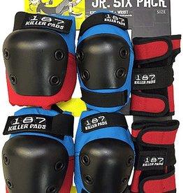 187 Killer Pads 187 Killer Pads- Six Pack- Junior- Red/White/Blue- Pad Set