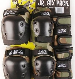 187 Killer Pads 187 Killer Pads- Six Pack- Junior- Camo- Pad Set
