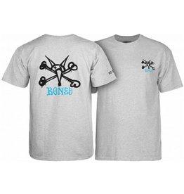 Bones Bones- Vato Rat- Youth- Gray- T-shirts
