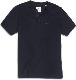 Devium Devium- Bowside Henley- Short Sleeve- Black- Shirt