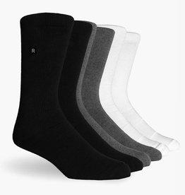 Richer Poorer Richer Poorer-Base Basic Athletic- 3 PK- Multi Color- Socks