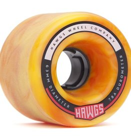 Landyachtz Landyachtz- Fattie Hawgs- Stone Ground- 63mm- 78a- Orange yellow Swirl- 2017- Wheels