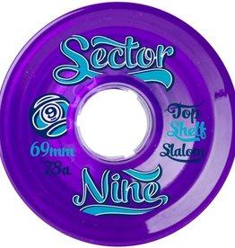 Sector 9 Sector 9- Top Shelf Slalom- 69mm- 78a- Purple- Wheels