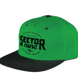 Sector 9 Sector 9- Lockstep- Green- 5 Panel Snapback- Hats