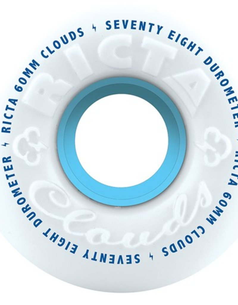 Ricta Ricta- Clouds- 60mm- 78a- White and Blue- Wheels