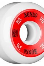 Bones Bones- 100's- Original Formula- 52mm- 100a- V5- White/Red- Wheels