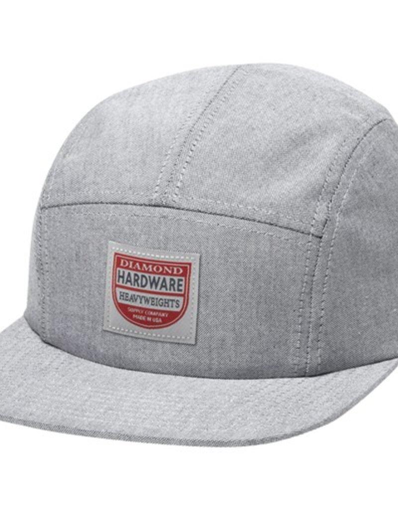 Diamond Diamond- The Port- 5 Panel Camp- Adjustable- Black/White- Hat