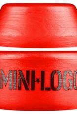 Mini Logo Mini Logo- Street- Barrel and Cone- 100a- Red- Bushing- Set of 2