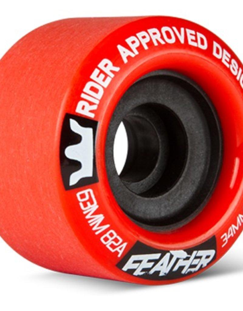 RAD RAD- Feather- 63mm- 82a- Red- Wheels