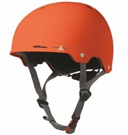 Triple Eight Triple Eight- Gotham- Orange Rubber- Dual Certified Helmet with EPS Liner