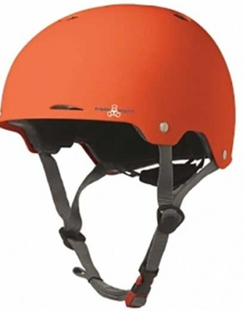Triple Eight Triple Eight- Gotham- Orange Rubber- Dual Certified Helmet with EPS Liner