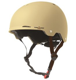 Triple Eight Triple Eight- Gotham- Matte Cream Rubber- Dual Certified Helmet with EPS Liner