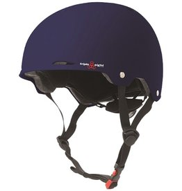 Triple Eight Triple Eight- Gotham- Matte Blue Rubber- Dual Certified Helmet with EPS Liner