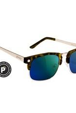 Glassy Sunglasses Glassy- P Rod- Tortoise/Green Mirror- Sunglasses