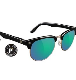 Glassy Sunglasses Glassy- Morrison- Polarized- Black/Green Mirror- Sunglasses