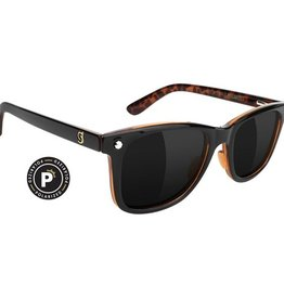 Glassy Sunglasses Glassy- Mike Mo- Premium Polarized- Black/Purple Smoke- Sunglasses