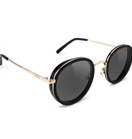 Glassy Sunglasses Glassy- Lincoln- Black/Gold Sunglasses