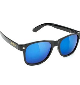 Glassy Sunglasses Glassy- Leonard- Black/Blue Mirror- Sunglasses