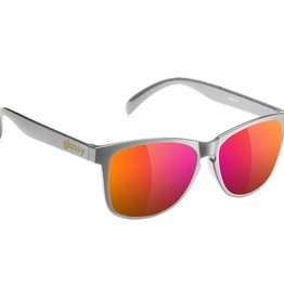 Glassy Sunglasses Glassy- Deric- Dark Grey/Purple Mirror- Sunglasses