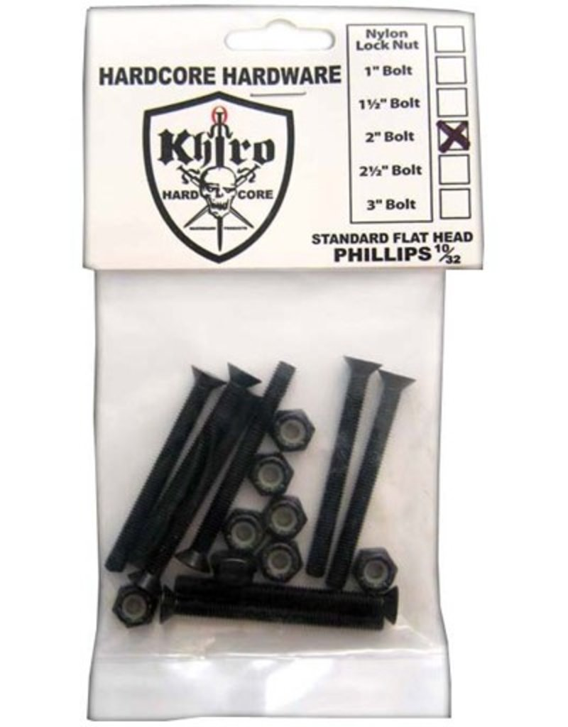 Khiro Khiro- Flat Head Hardware- 2 inch- Phillips Head