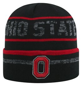 TOP OF THE WORLD Ohio State Effect Cuffed Knit Hat