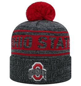 TOP OF THE WORLD Ohio State Sock It 2 Me Cuffed Knit Hat