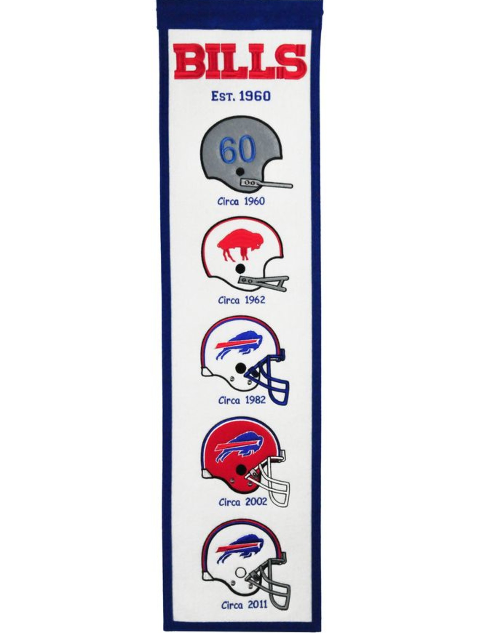 WINNING STREAK SPORTS Buffalo Bills Fan Fave Heritage Banner