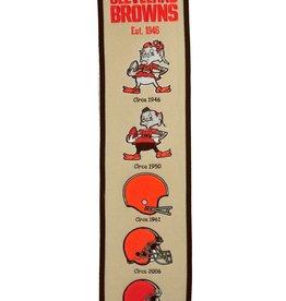 WINNING STREAK SPORTS Cleveland Browns Fan Fave Heritage Banner