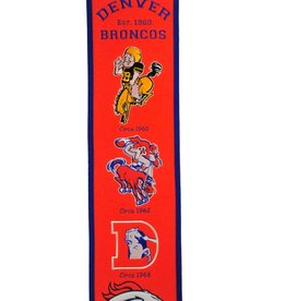 WINNING STREAK SPORTS Denver Broncos Fan Fave Heritage Banner