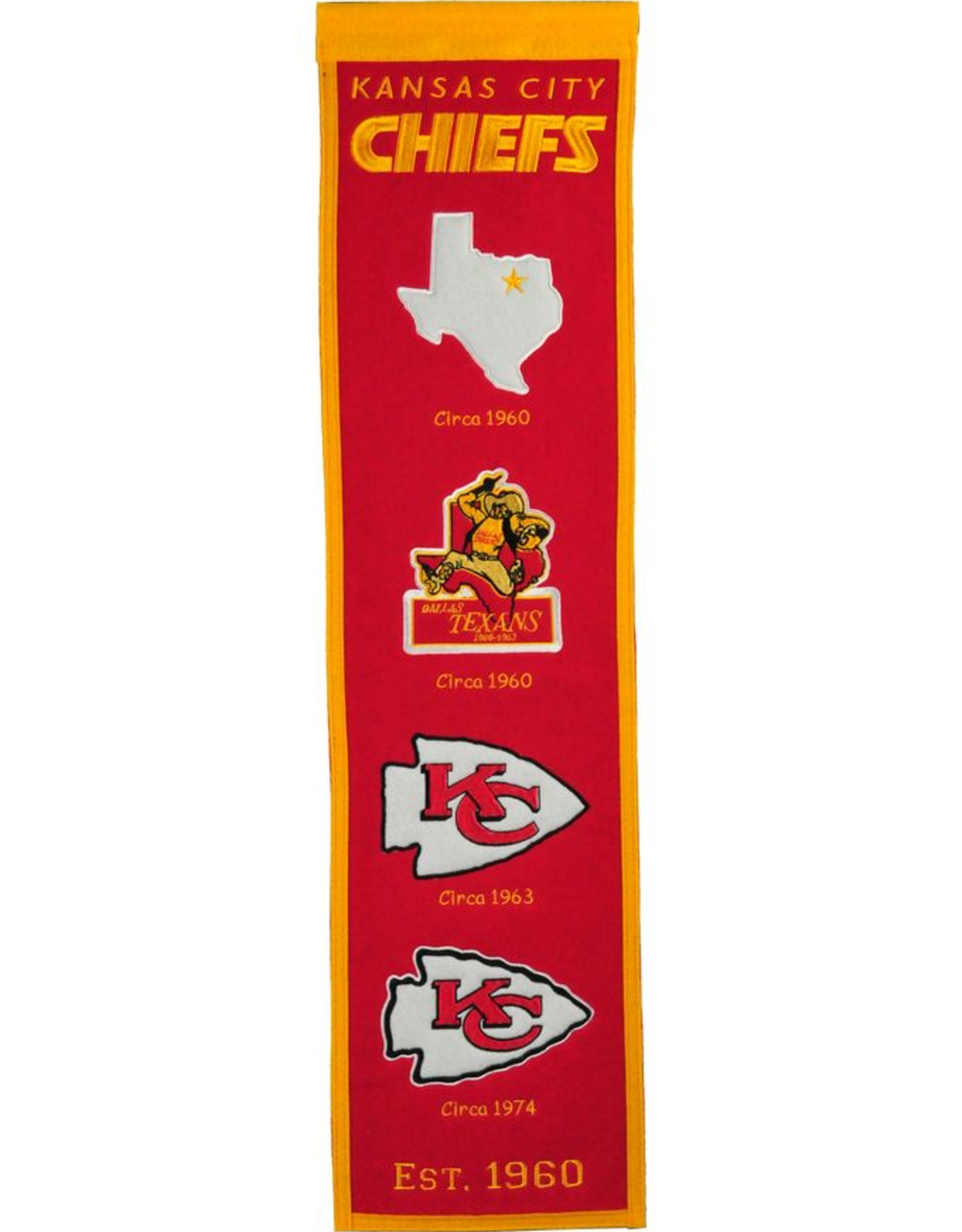WINNING STREAK SPORTS Kansas City Chiefs Fan Fave Heritage Banner