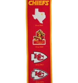 WINNING STREAK SPORTS Kansas City Chiefs Fan Fave Heritage Banner