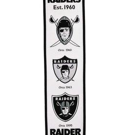 WINNING STREAK SPORTS Oakland Raiders Fan Fave Heritage Banner