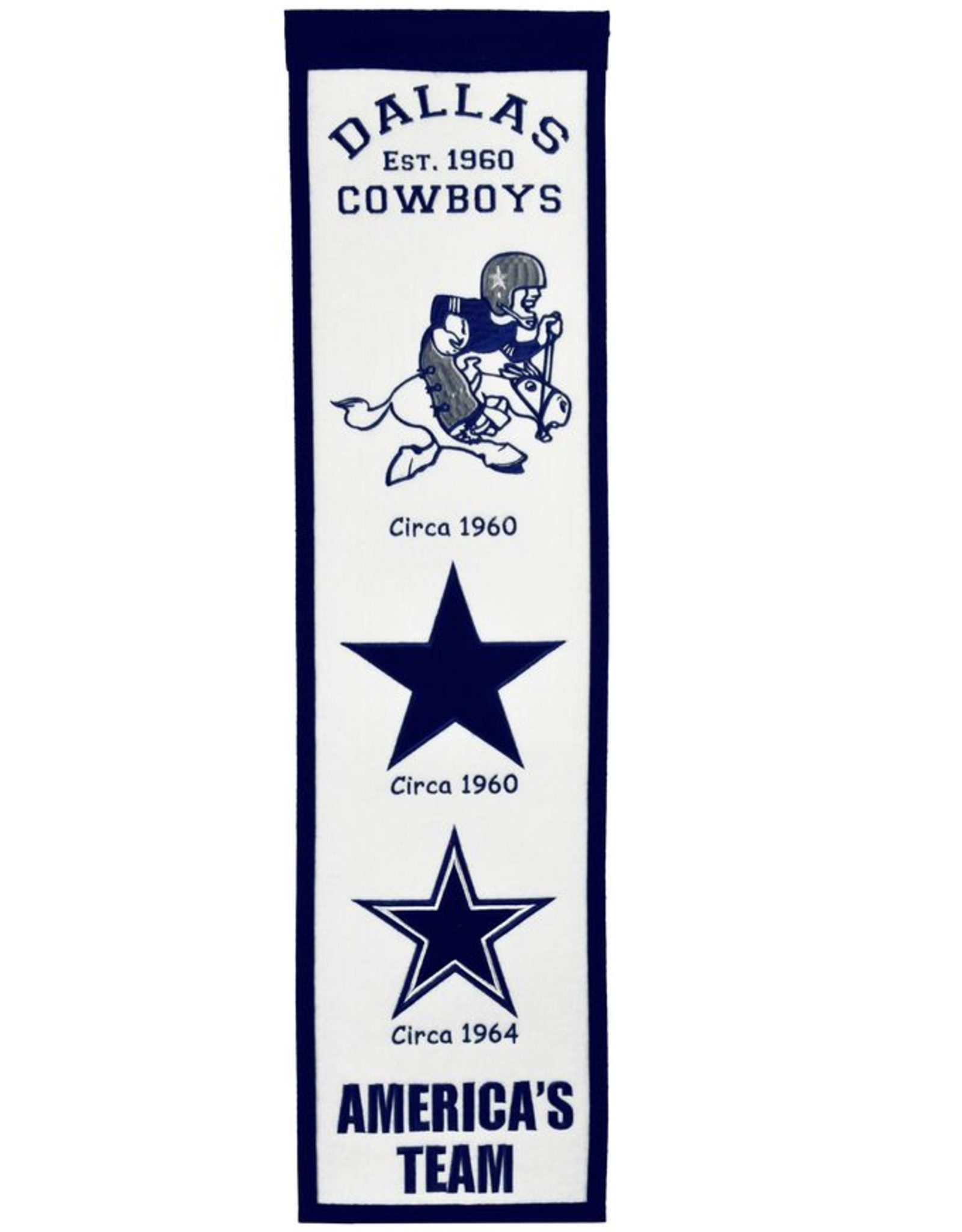 WINNING STREAK SPORTS Dallas Cowboys Fan Fave Heritage Banner