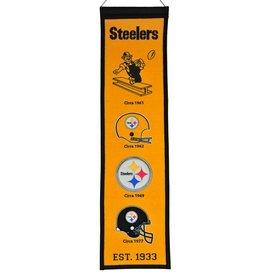 WINNING STREAK SPORTS Pittsburgh Steelers Fan Fave Heritage Banner