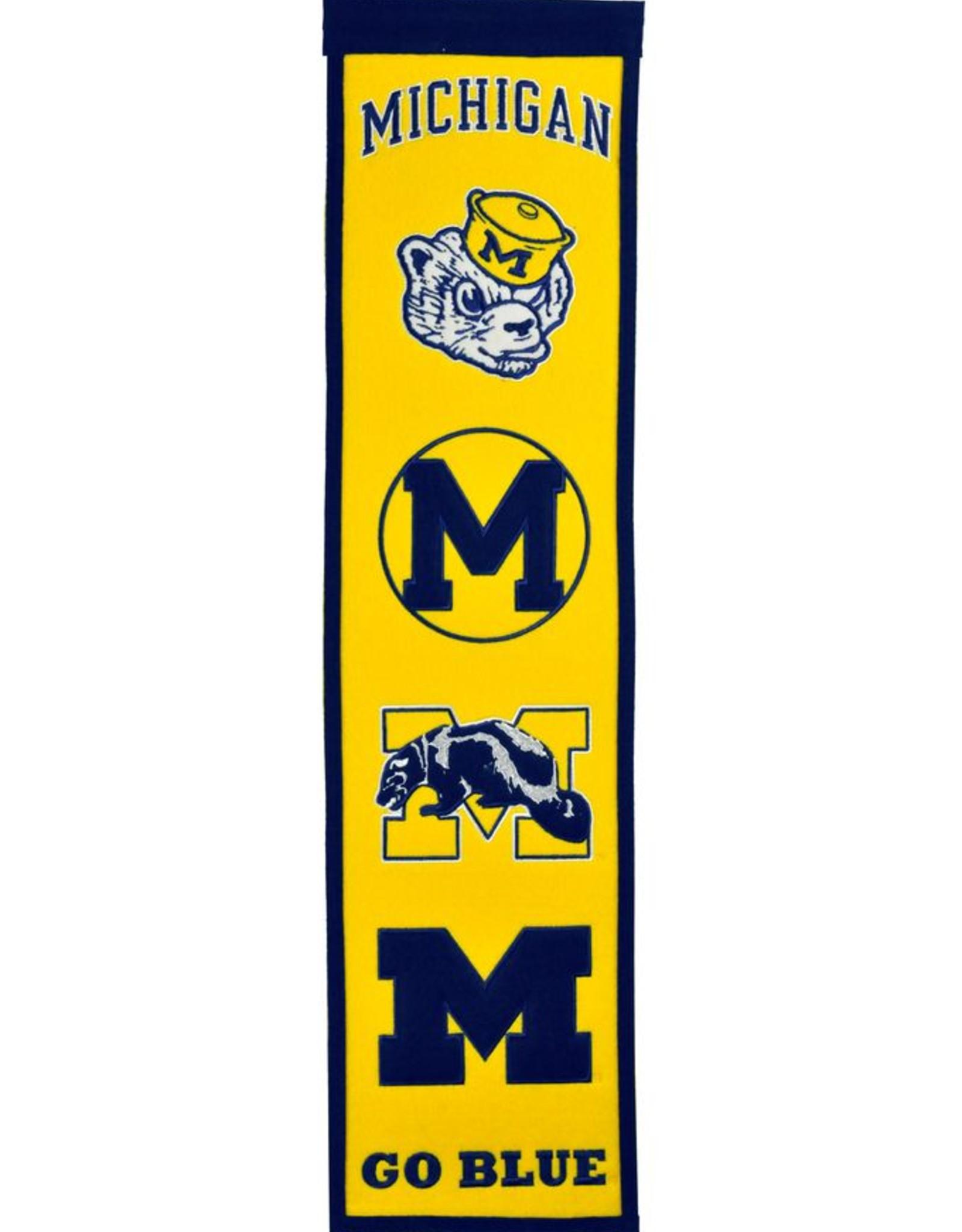 WINNING STREAK SPORTS Michigan Wolverines Fan Fave Heritage Banner