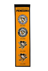 WINNING STREAK SPORTS Pittsburgh Penguins Fan Fave Heritage Banner