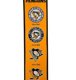 WINNING STREAK SPORTS Pittsburgh Penguins Fan Fave Heritage Banner