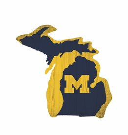 FAN CREATIONS University of Michigan Wolverines Team Logo State Sign
