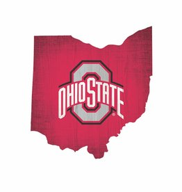 FAN CREATIONS Ohio State Buckeyes Team Logo State Sign