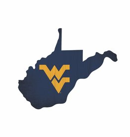 FAN CREATIONS West Virginia Mountaineers Team Logo State Sign